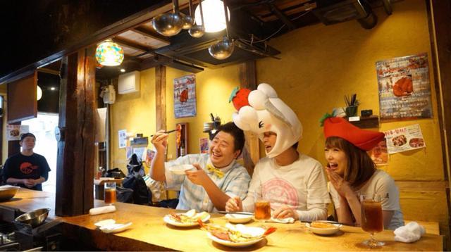 画像: YouTube動画「食べあるキングTV」~活海老バル orb@大阪~編に出演