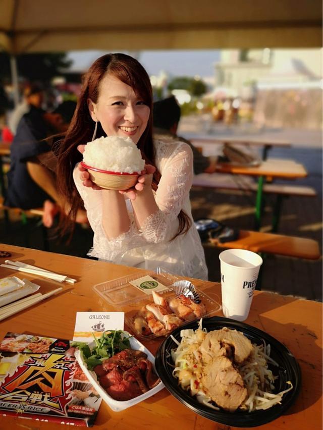 画像: 「東京肉合戦!!️」今日18時からステージも登壇します。大井競馬場で開催中!食べあるキング