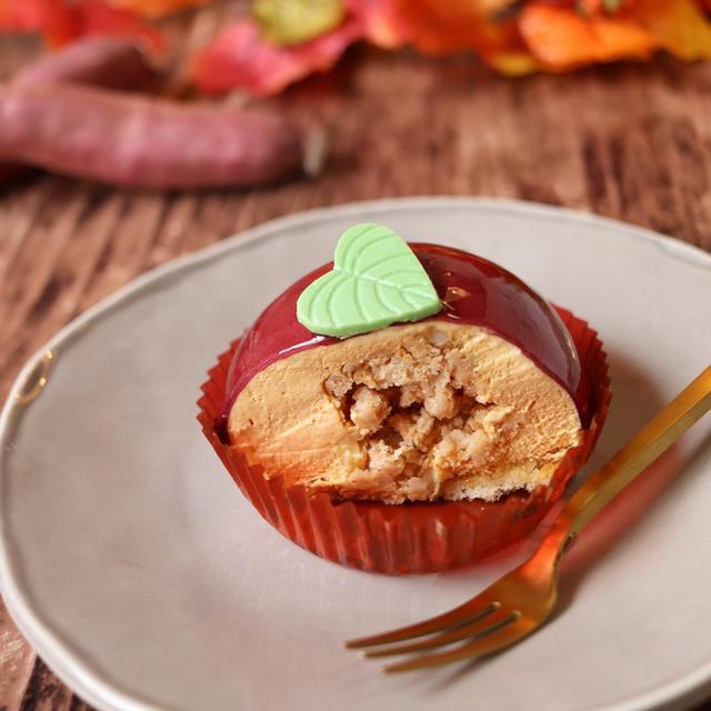 画像: セブンイレブン・安納芋のムースケーキクッキー&芋ブリュレ