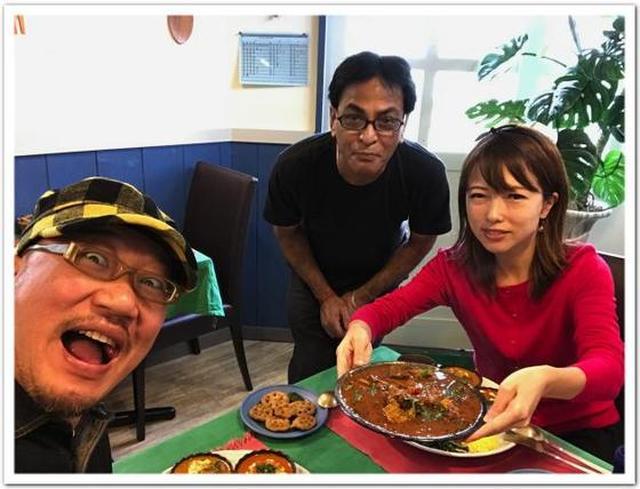 画像: カレーですよ4545(横浜都筑 東山田 インド家庭料理ラニ)ハリオムさんのカレーとDJ TAROさんのパンケーキ。