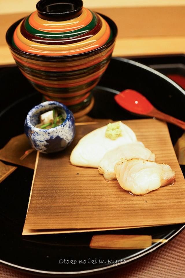 画像: くろいわ (恵比寿) 鮑のお雑煮と錆上げ蒔絵
