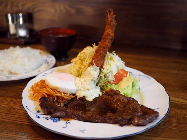 画像: 下町の大人気洋食屋さんの凄いボリュームのステーキランチは美味しくてお腹がいっぱいになってリーズナブルで満足度が高すぎます! 弁天町 「グリル ミヤコ」