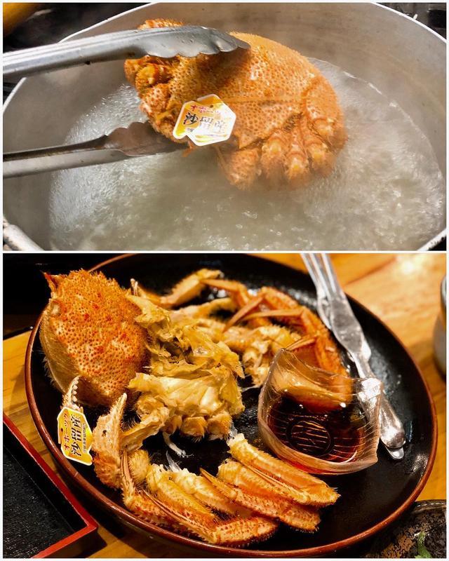 画像: 【FUKKOツイート旅・魚卵ツアー 6軒目】  急遽入った千歳『海鮮市場』がとってもよかった。 お造り、うにの天ぷらもよかったけど、毛ガニがなまら安くて美味しかった!  #北海道のここがえーぞ