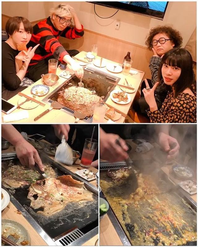 画像: 『おそうざいと煎餅もんじゃ さとう』で、 れもんらいふ「千原徹也」くんと、あいみょんのCDジャケットデザインしている「とんだ林 蘭」ちゃんと、フェイスペイントで有名な「チョーヒカル」ちゃんという、東京のスーパークリエイターたちと!!!  楽しく...