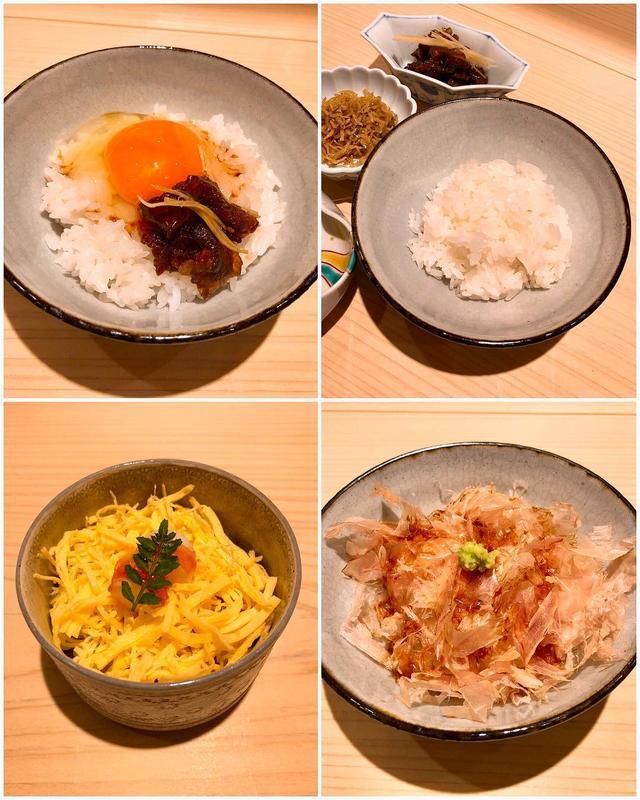 画像: 今日の『新ばし 星野』も素晴らしかった!!!!!  ここの山形の合鴨農法の白飯が最強に好きなんですが、 京都の素晴らしい卵と牛しぐれ煮のたまごかけご飯、おかかご飯、旨すぎた〜!!!!!  3月はひな祭りなので、雛寿司も出たのですが、めちゃく...