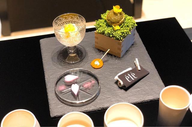 """画像: 『長谷川栄雅 六本木』で『été』の庄司夏子シェフの""""おつまみ""""と日本酒のペアリング会。  長谷川栄雅とは、350年もの歴史をもつ兵庫県姫路市の『ヤヱガキ酒造』が新たに作った最高級の日本酒ブランドです。  純米大吟醸と特別純米、合わせてこの5..."""