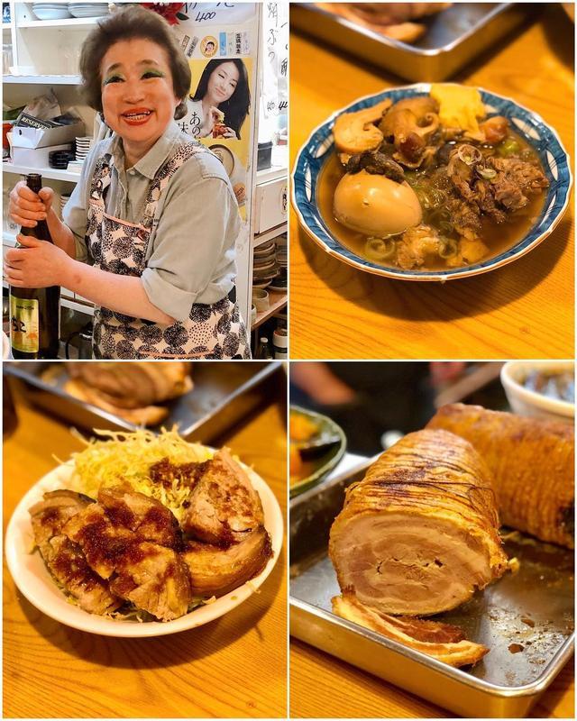 画像: MEGUMIさんにオススメされて、金沢西町藪ノ内『ゑびす』で、金沢おでんと(ラーメン二郎みたいな)豚、最高に楽しく美味し〜!!!!!  ここのアイシャドウのブルーが素敵なおかあさんが、また最高!!!  #ゑびす #金沢おでん