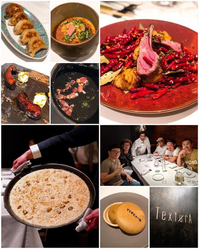 画像1: 4月23日オープンの丸の内『TexturA(テクストゥーラ)』のプレオープンに行ってきました。 『一凛』、『イチリンハナレ』の齋藤宏文シェフが手がける、中華とスパニッシュの融合する料理、素晴らしく美味しかった!!! 中華とスパニッシュの相性の良さ、凄いです!  ジャスミン(ジャスミンライスのおかゆの上澄み) イベリコ(生ハムとパン) 高坂鶏(鶏、焼餃子、山椒麺の三段活用) 海老(アフィージョ) マナガツオ(上海の郷土料理 照り焼き) 文旦(ガスパチョ) 百合根(ラムチョップ) 五島列島(鮮魚 ハタ) 蛍烏賊(イカスミのメロッソ) 最中(紹興酒アイス) 茶菓子(マカロン、ビスコッティ、チョコレート)  この料理が、夜のコースで、8,000円からで食べられるなんて、素晴らしい!  途中で、出来立て「干し貝柱とムール貝のパエリア」を見せながら、サービスしてくれるのも楽しくてすごく良かった! まるで、賑やかで楽しいスペインの店にいるような、リッチな空間もすごく良い!  店の手前のカジュアルゾーンは、アラカルトで料理が楽しめるそうで、ここもかなり使い勝手が良さそうでした。  あっという間に、予約困難店になると思います! www.instagram.com