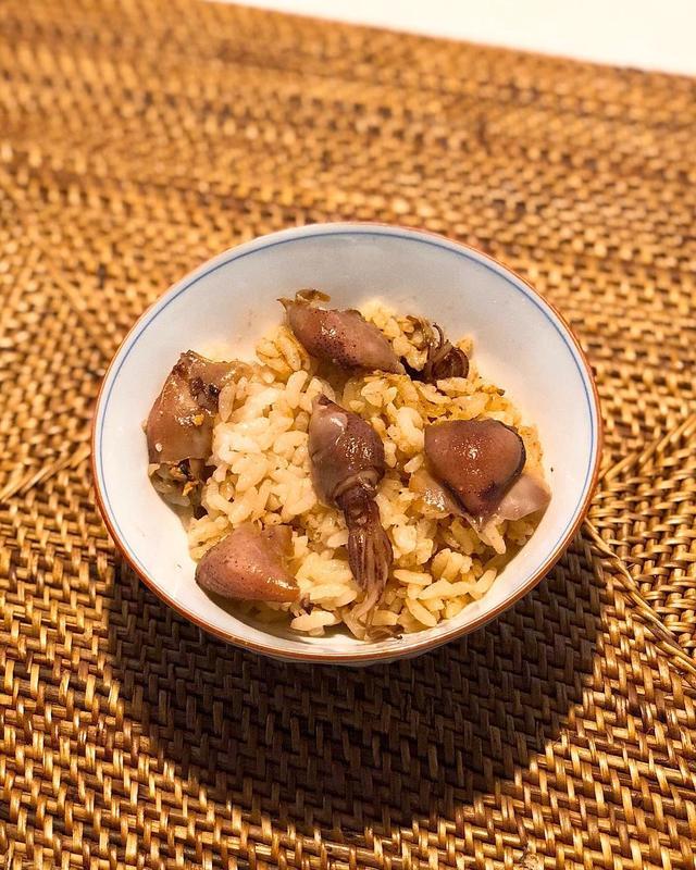 画像: 朝食は『くろぎ』のお土産蛍烏賊ご飯  #くろぎ