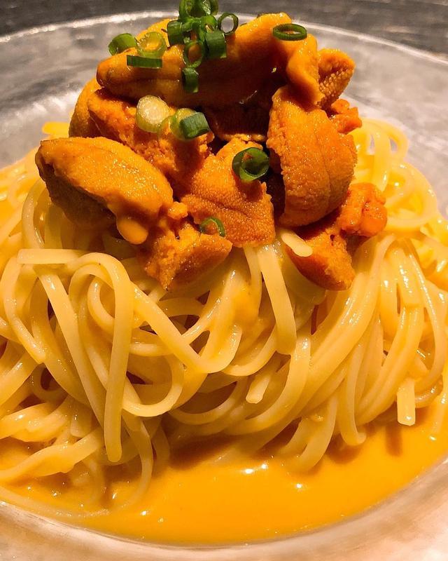 画像: 『マルテ』で、始まったばかりの「冷やしうにのグチュグチュスパゲッティ」。  僕は、うにパスタは温かいのよりこの冷たい方が好きです! めちゃくちゃ旨い!!!!!  #マルテ #中目黒マルテ #中目黒イタリアン #うにパスタ #具義イタリアン2...