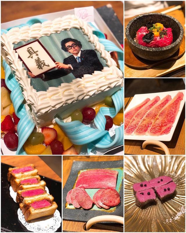 画像1: 恵比寿『焼肉 うしみつ』で、奥様が超〜美人のご夫婦と、超〜おもしろかわいい女性が、誕生日を祝ってくれました!!! 焼肉美味しかった〜! そして、オーダーしてくれた令和バースデーケーキに、感動しました!!! ありがとう  #焼肉うしみつ #恵比寿焼肉 #具義焼肉2019 www.instagram.com