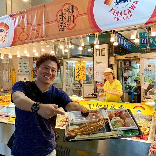 画像: 唐戸市場で寿司食べまくり!巨大海老フライも美味かった! うにソフトに、うにまんもいただき 福岡グルメから、山口グルメへ笑 #山口グルメ #唐戸市場 #唐戸市場 #youtube #youtuber #ユーチューバー #わっきーtv #わっきー #食レ...