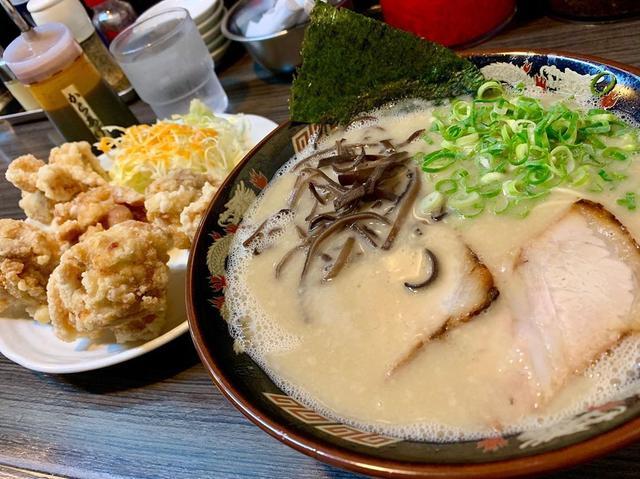 画像1: 小倉にある、激うま豚骨ラーメン屋! スープ、麺、大量のきくらげ、 福岡ならではの味で最高でした なんといっても、から揚げが1個デカすぎ! 小倉に行ったら、オススメですよー #福岡グルメ #小倉グルメ #youtube #youtuber #ユーチューバー #わっきーtv #わっきー #食レポ #飯テロ #ラーメン #ラーメン巡り #ラーメン大好き #らーめん #麺スタグラム #豚骨 #豚骨ラーメン #福岡ラーメン #小倉ラーメン #から揚げ #唐揚げ www.instagram.com