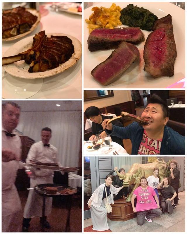 画像: ステーキの聖地、ニューヨークにやってきたので、肉好きたちと『Ben & Jack's Steakhouse』!!! トマホークステーキ、スケールでかくて美味しかった〜! 店オリジナルのステーキソースが美味しくて、お土産に!  #benandj...