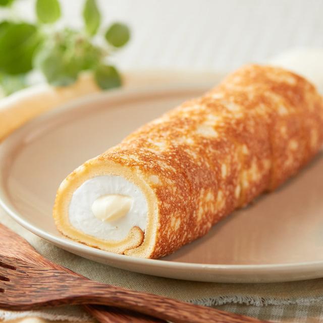 画像: コンビニスイーツ・ローソン 焼きチーズ もち食感ロール のびーるチーズクリーム