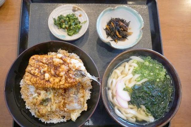 画像: 【福岡】イワシ丼とうどんのセット♪@正八郎うどん