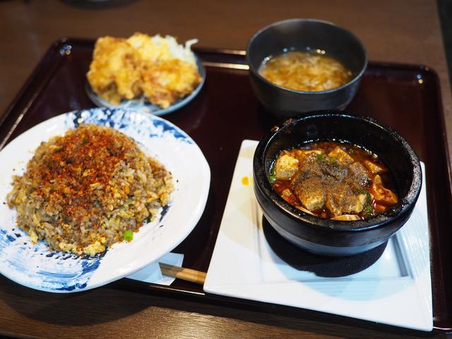 画像: 旨みたっぷりの麻婆豆腐と辛いチャーハンの組み合わせは完全に病みつきになる美味しさです! 谷町四丁目 「四川麻婆 天天酒家 谷町店」