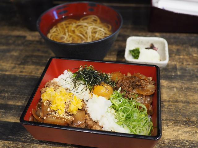 画像: 近江牛の肉汁とお蕎麦のセットは美味しくてリーズナブルで満足感が高いです! 天満橋 「和食 縁 蕎麦切り」