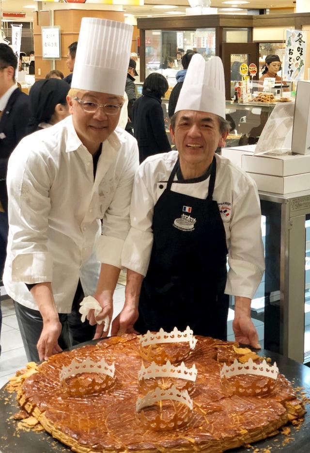 画像: 辻口シェフも来店❗️玉川高島屋「巨大ガレットデロワ振舞いイベント」行って来ました