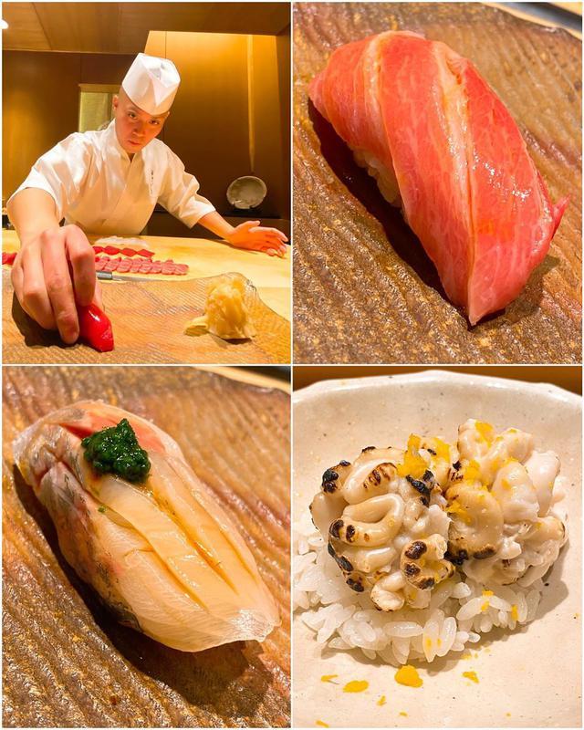 """画像1: 秋山具義 on Instagram: """"ランチスで、寺門ジモンさんに呼んでいただき『鮨 さいとう』橋場俊治個室で、寿司の勉強会「ジモン会」。  ジモンさんの詳し過ぎる解説を聞きながら、美味しい寿司を食べるのは、本当〜に最高な時間です!  大間の鮪の大トロ、鯵、完璧な美味しさで、昇天しました!!! …"""" www.instagram.com"""