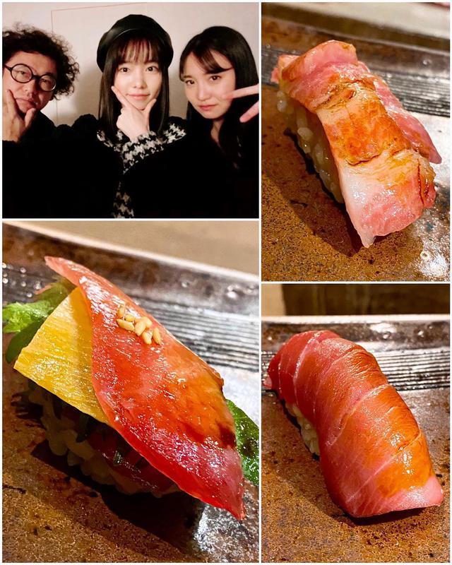 """画像1: 秋山具義 on Instagram: """"今年初めての神楽坂『すし ふくづか』。 ここの鮪は「やま幸」なので、良い鮪をいろいろ楽しめます。 7種類を堪能。鮪好きには、最高です!!! タクワンがチーズのようで、大葉がレタスのように見える「トロタクバーガー」は、食感も美味しい!!! …"""" www.instagram.com"""