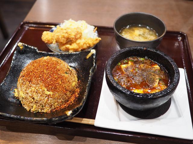 画像: 花椒香る痺れる絶品麻婆豆腐と辛いチャーハンの組み合わせは最高です! 谷町四丁目 「四川麻婆 天天酒家 谷町店」