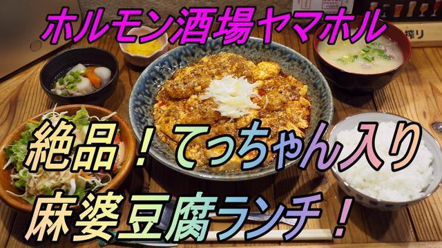 画像: 病みつき必至の絶品『てっちゃん入り麻婆豆腐定食』ランチが始まりました! 天神橋1丁目 「大衆ホルモン酒場 ヤマホル」