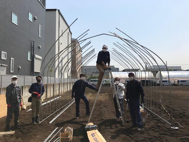 画像: たがやせせたがや、始めました〜♪ せたがや体験農園でビニールハウスづくり!JA世田谷目黒
