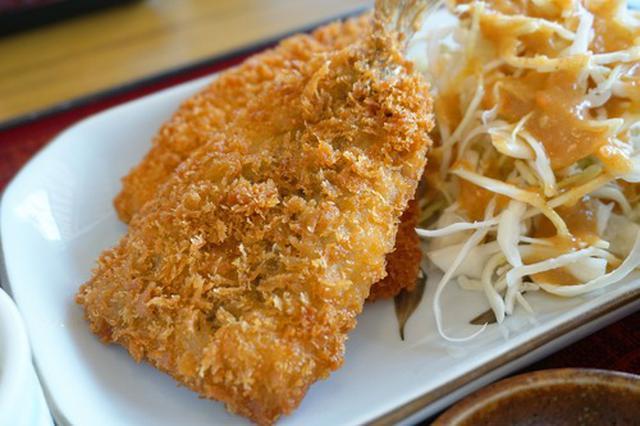 画像: 【福岡】アジ活造りとアジフライとイワシフライ定食♪@和食 みくにや 本城店