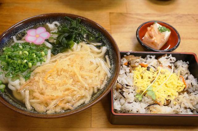 画像: 【福岡】五目寿司定食♪@麺房てうち庵 八女店