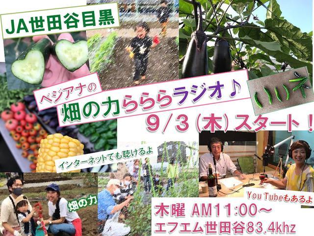 画像: ベジアナ冠番組!日本一小さな農業ラジオはじまりまーす!ベジアナの「畑の力らららラジオ」FM世田谷