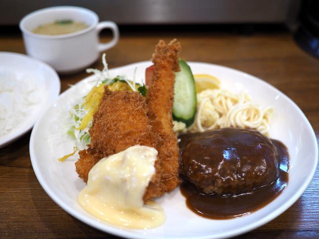画像: 地元で愛される老舗洋食屋さんの絶妙な組み合わせのAセット! 京橋 「レストランかめや」