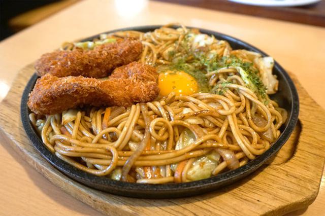 画像: 【福岡】チキンカツ入り!焼きそば&ミニちゃんぽんセット♪@折尾のちゃんぽん