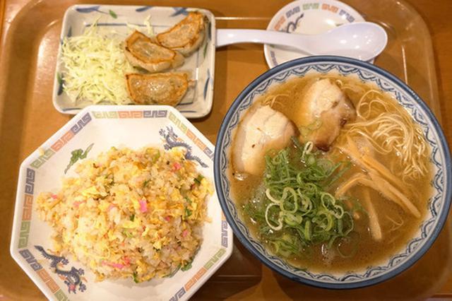 画像: 【福岡】ラーメン定食♪@元祖赤のれん節ちゃんラーメン 野間店