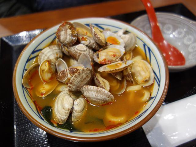 画像: 【福岡】季節限定!春の辛辛あさりうどん♪@丸亀製麺 福岡賀茂店