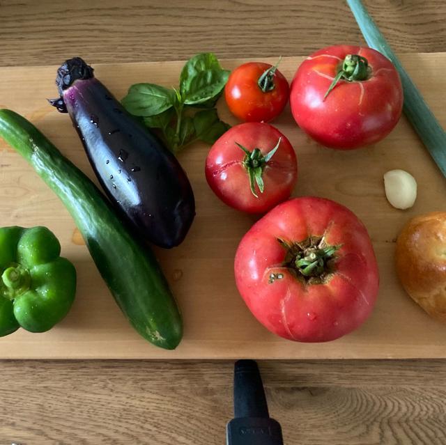 画像: 夏野菜大豊作でガスパチョ3分クッキングしようとしたけど6分クッキングになったの巻