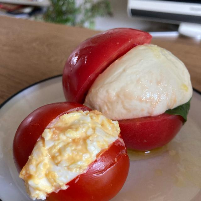 画像: マリトッツォをトマトで作ってみた
