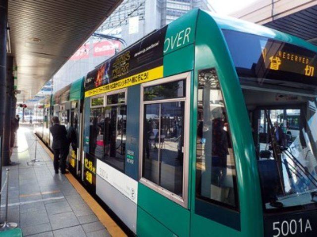 画像: 「スター・ウォーズ」ラッピング電車が広島に登場