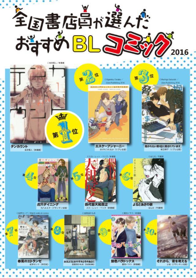 画像: 今もっともアツいBLコミックはこの作品だ! 「全国書店員が選んだおすすめBLコミック2016」ランキングTOP10発表
