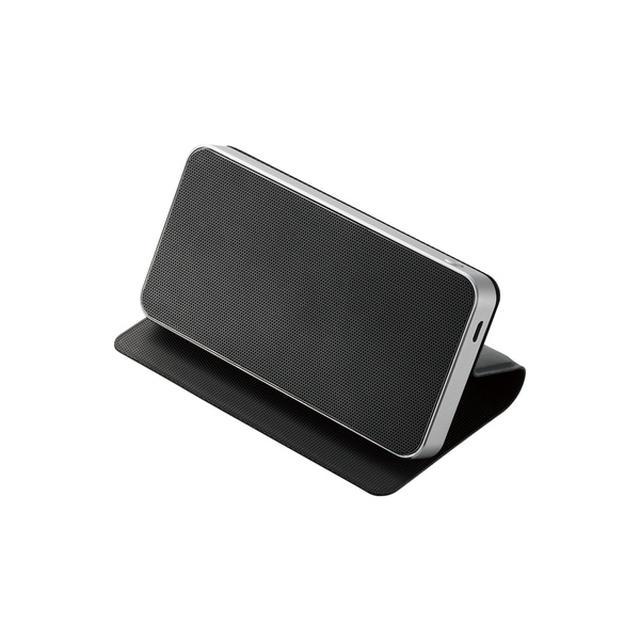 画像: フラップ付Bluetoothスピーカー - LBT-SPTR02AVBK