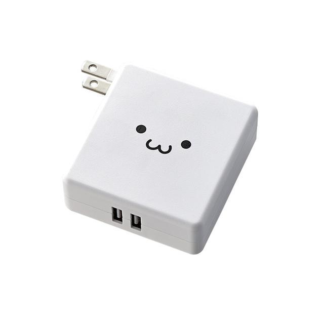 画像: AC充電器一体型モバイルバッテリー - DE-AC01-N2924WF
