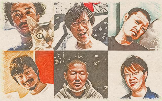 画像: 上段左から、西岡猛(Live Space CONPASS)、加藤鶴一(堺ファンダンゴ)、風次(MUSIC ZOO KOBE 太陽と虎) 下段左から、吉條壽記(心斎橋Pangea)、行貞利晃(京都MUSE)、キイリョウタ(梅田シャングリラ)