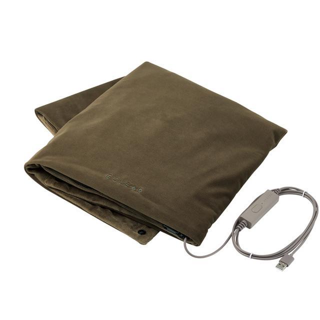 画像: ECLEAR warm USBブランケット(オリーブカーキ) - HCW-B01GN