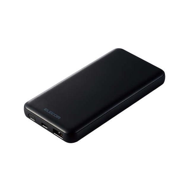 画像: PD20Wモバイルバッテリー(10000mAh/PD準拠/C×1+A×1) - DE-C28-10000BK