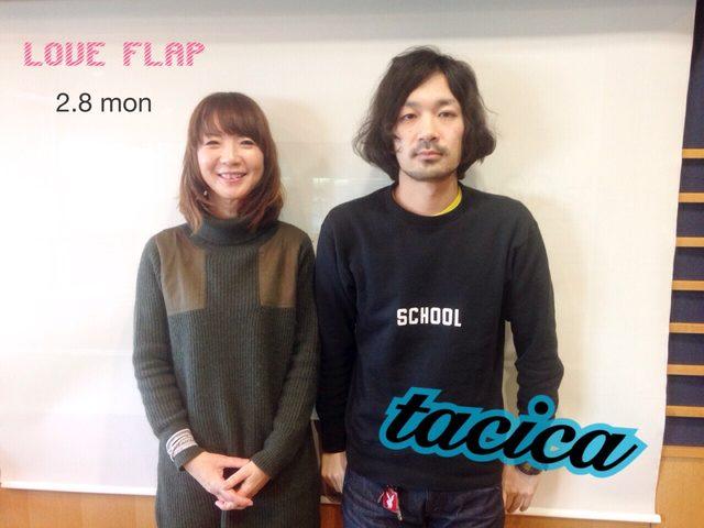 画像: 2/8(月) 今日のゲスト「tacica」