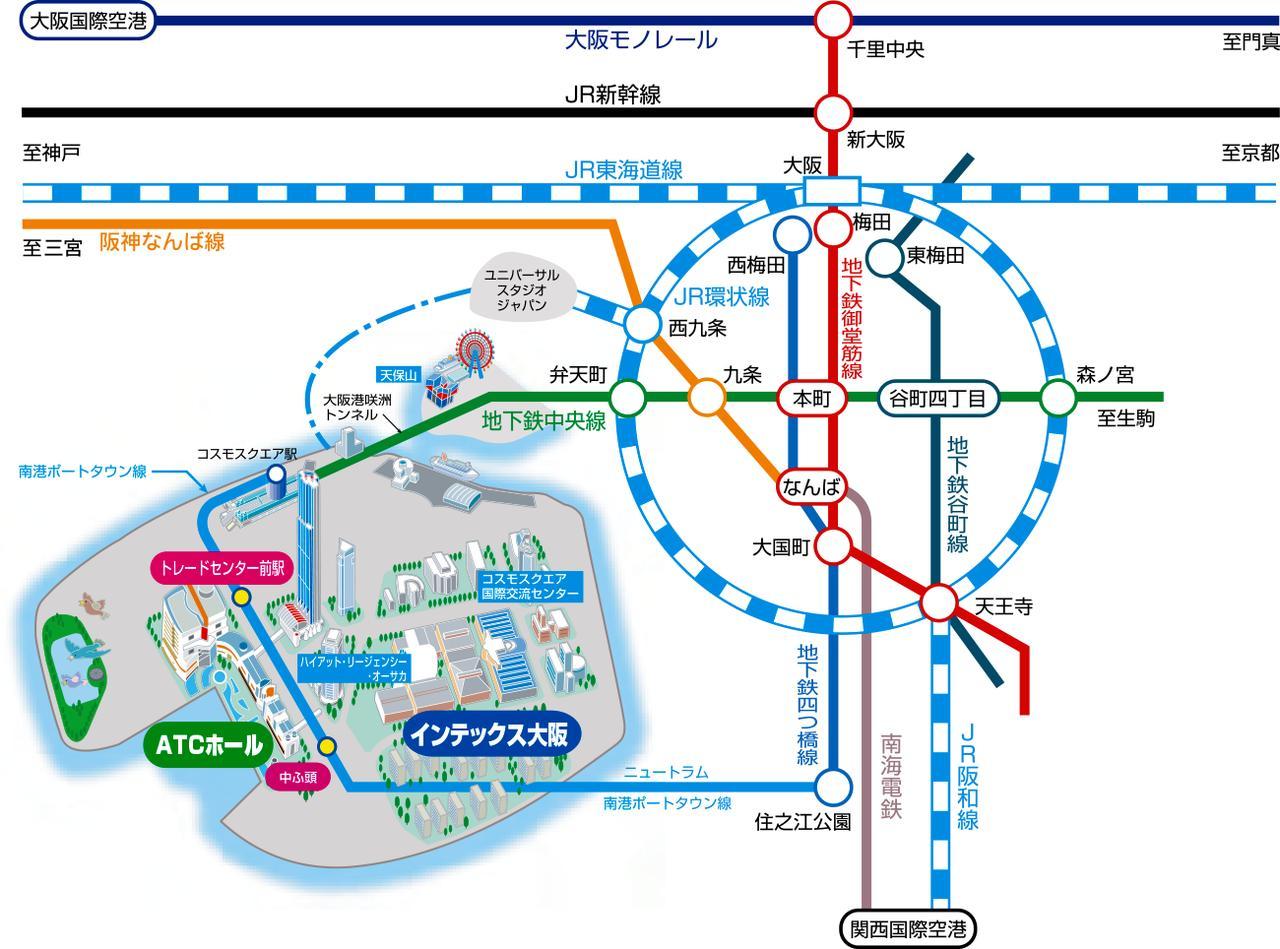 画像: 交通アクセス・駐車場   大阪南港 ATCホール:オフィシャルWEBサイト
