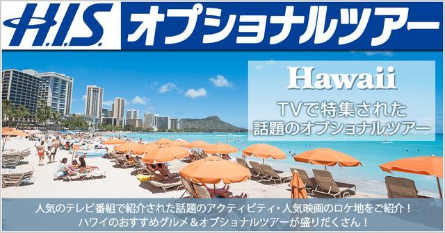 画像: ハワイ TVで特集された話題の現地オプショナルツアー