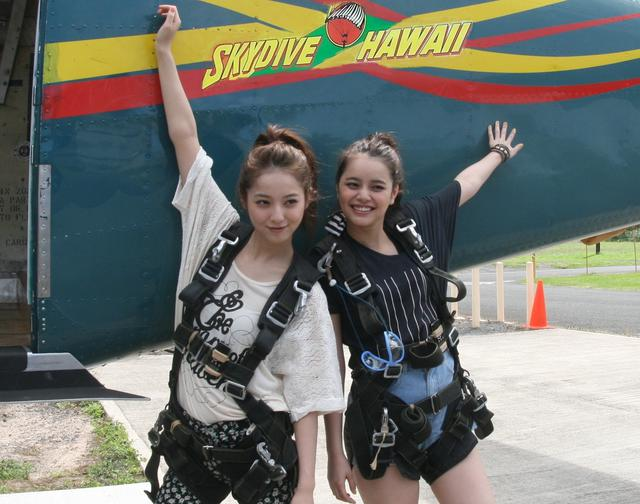 画像: スカイダイブハワイ公式サイト 保険付コース好評販売中!日本人インストラクター常駐 酸素補給付きでハワイ州最高高度6000メートル、ハワイ州無事故記録保持・更新中!多くの芸能人も飛んでいるハワイ最大のスカイダイビングセンター