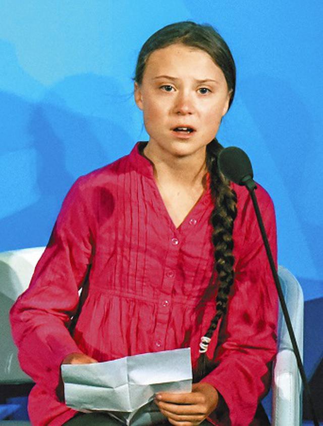 画像: グレタ・トゥンベリさん演説全文 「すべての未来世代の目はあなたたちに注がれている」