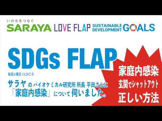 画像: SARAYA SDGs FLAP「正しい玄関消毒の方法」 www.youtube.com